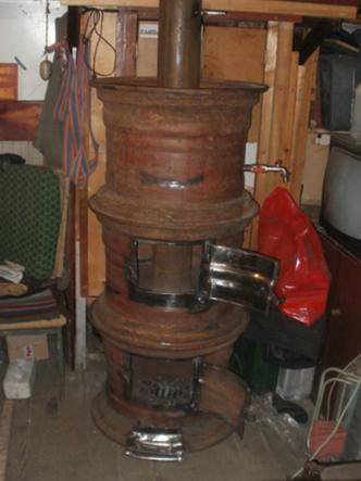 Печь из колесных дисков своими руками для гаража